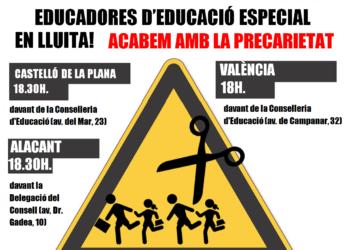 Les educadores continuen les mobilitzacions davant el silenci del conseller d'Educació
