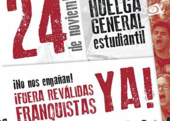 Sindicato de Estudiantes: «El gobierno no sólo NO quita las reválidas sino que endurece brutalmente la de 2º de bachillerato»