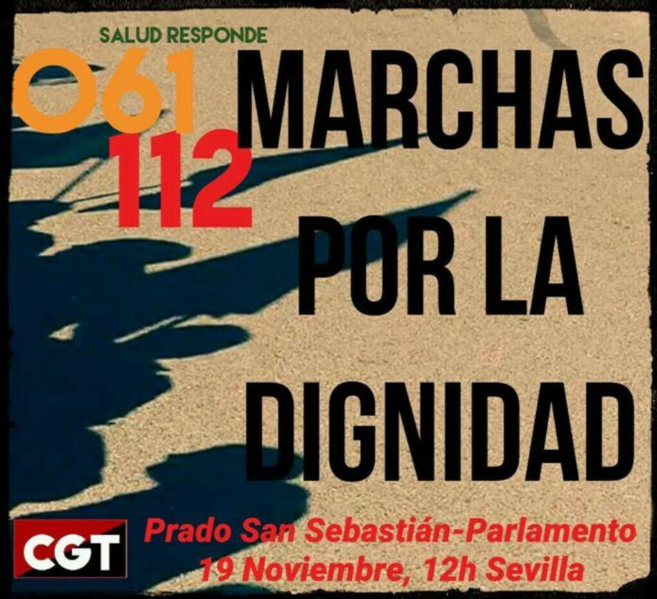 CGT convoca huelga en los servicios de emergencias y salud responde en Andalucia el 19N