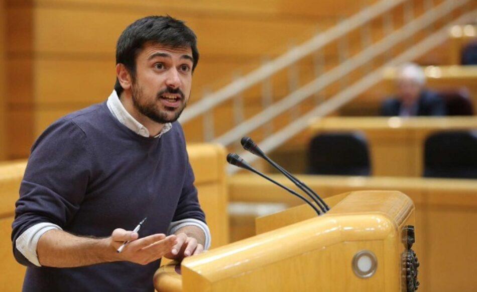 Ramón Espinar pregunta a Mariano Rajoy por la viabilidad del actual sistema de pensiones en la Sesión de Control al Gobierno del Senado