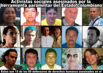 La Comisión Interamericana alarmada por asesinatos defensores de DDHH en Colombia