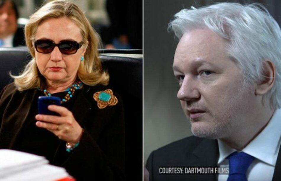"""Assange: """"Hillary Clinton fue la figura clave en la destrucción del Estado de Libia"""""""