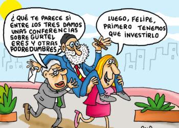 Felipe y Susana con Rajoy