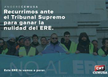 Los trabajadores de CEMUSA recurren al Tribunal Supremo