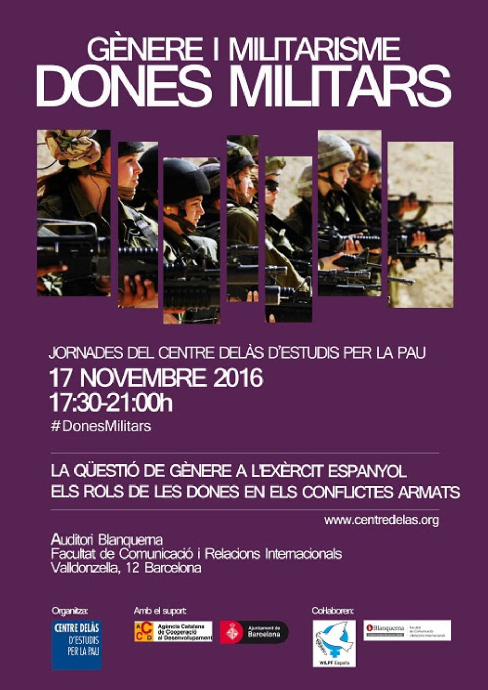 El Centro de Estudios por la Paz JM Delàs celebra sus jornadas anuales sobre Mujeres Militares