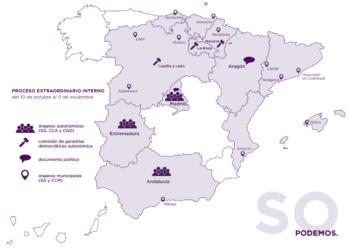 Las primarias de Podemos en 7 comunidades y 12 municipios concluyen con una alta participación