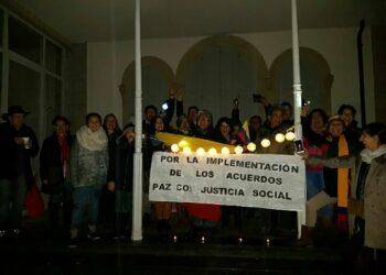Suiza realizó vigilia por la paz con justicia social en Colombia