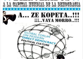 """Protestako kontzentrazio bat egingo dute """"Demokrazia Zuzen Modernoari buruzko Foro Globala"""" Donostiako udalean"""