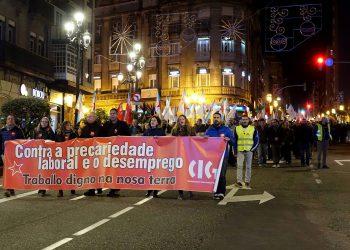 Manifestación da CIG en prol do emprego en Vigo