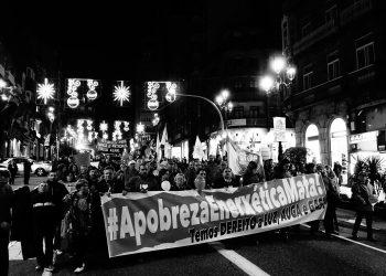 Manifestación para denunciar que a pobreza enerxética mata