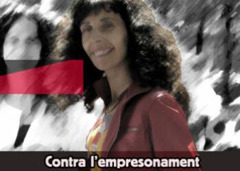 Concentración por la libertad de Lola Gutierrez, sindicalista de la CGT encarcelada en Grecia