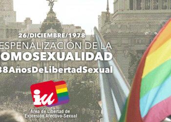 Comunicado por el 38º aniversario de la despenalización de la homosexualidad en el estado español