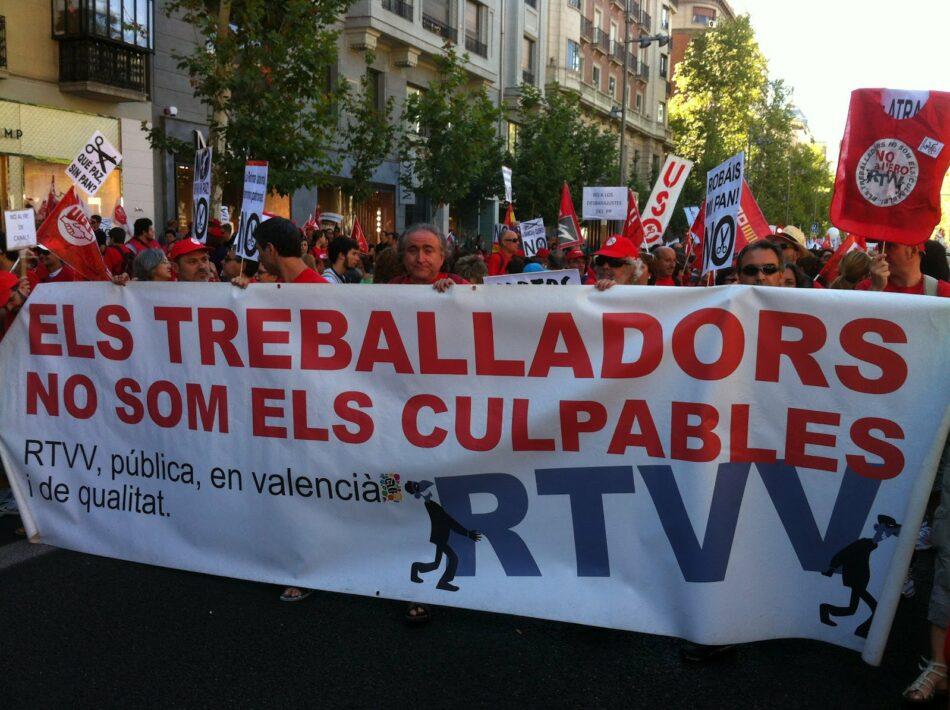CGT amplía la demanda por el ERE de RTVV contra la Corporación Valenciana de Medios de Comunicación y planteará la sucesión de empresas