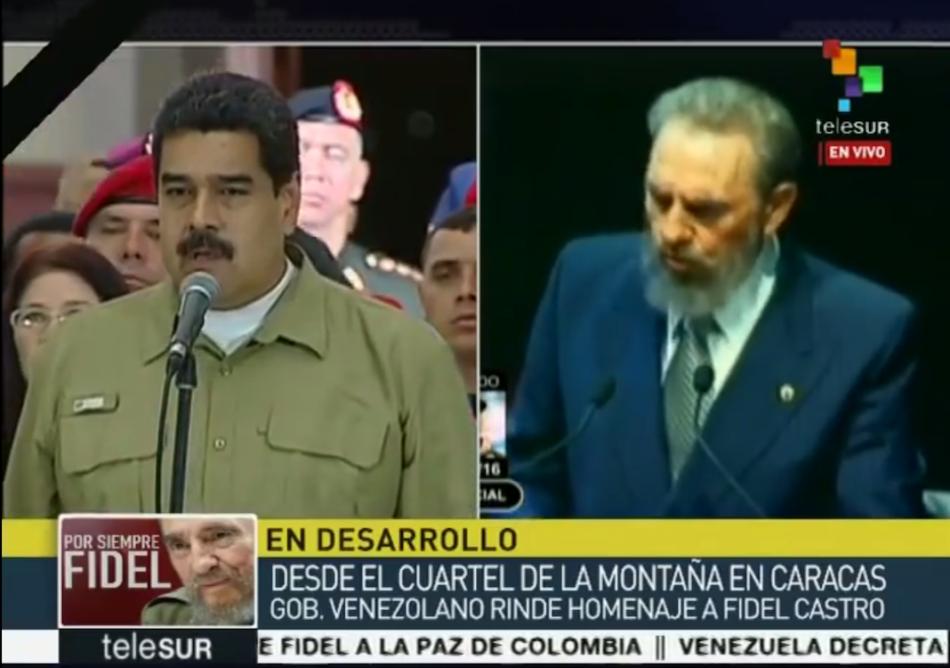 Venezuela en homenaje a Fidel: agradecemos a Cuba que nos diera a un gigante