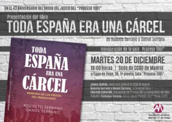 Presentación del libro «Toda España era una cárcel» sobre el Proceso 1001