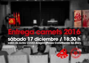 El PCE homenajea este sábado a las Brigadas Internacionales en su acto anual de entrega de carnets