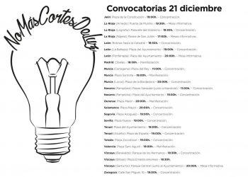Pablo Iglesias, Irene Montero y Rafa Mayoral asisten a la manifestación del 21D contra la pobreza energética