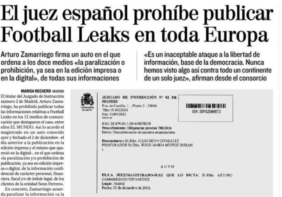 IU registra una batería de iniciativas en el Congreso y en Bruselas para aclarar las revelaciones de «Football Leaks» sobre la presunta evasión de impuestos de varios jugadores