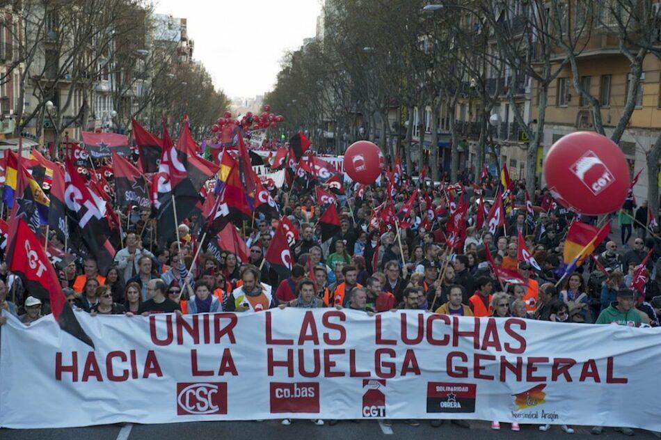 CGT se desvincula de las movilizaciones convocadas «por los sindicatos del régimen y sus partidos»