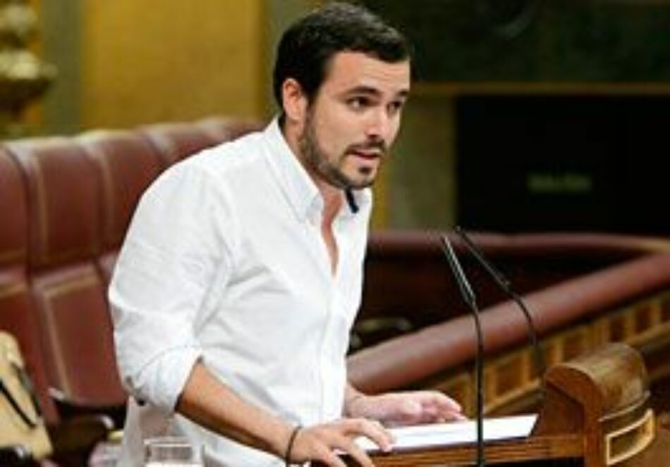 Garzón plantea en el Congreso «impulsar la I+D+i» con una iniciativa para equiparar la inversión a la media de la UE y «eliminar los límites a la tasa de reposición de empleo público»