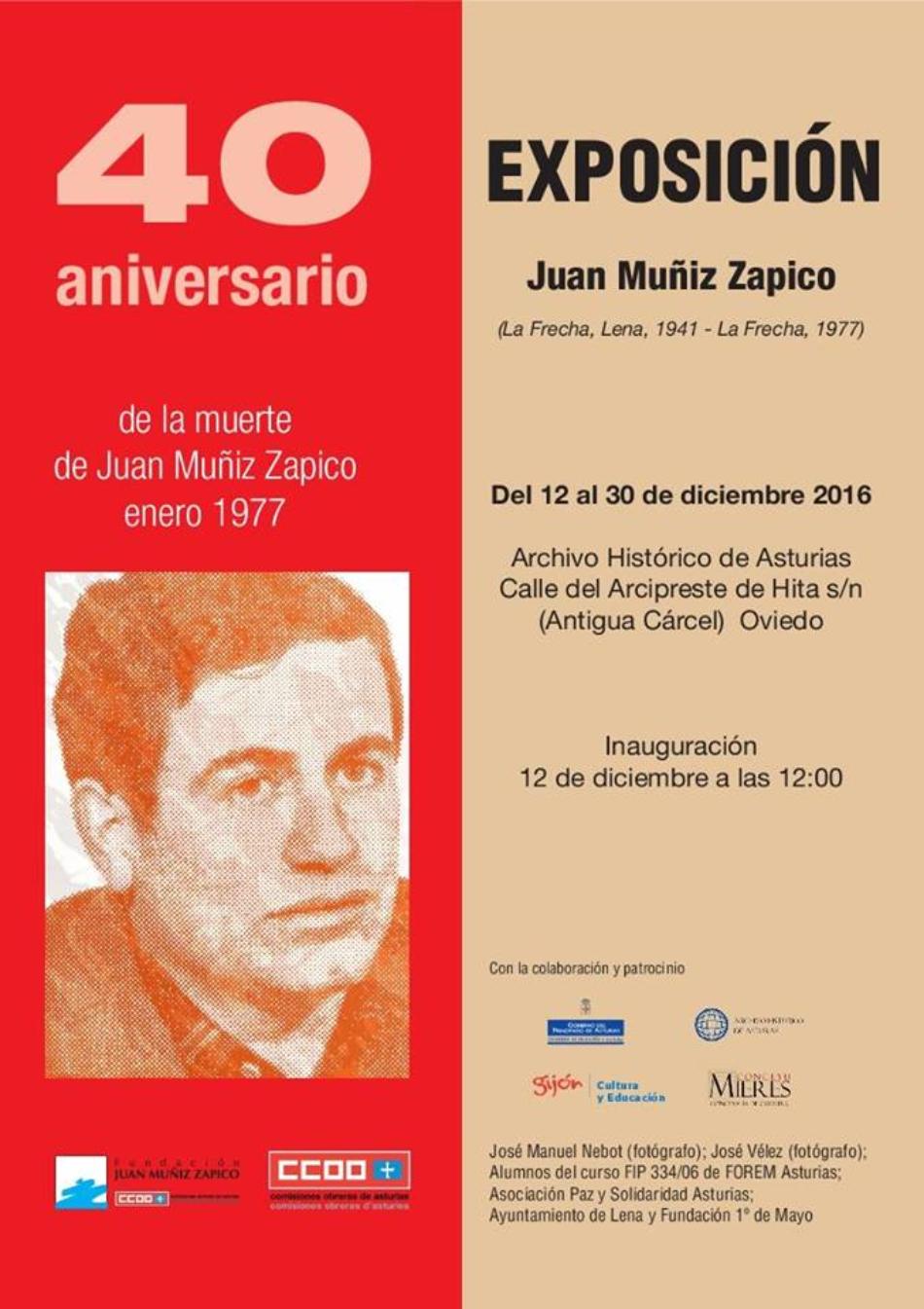 Exposición sobre Juan Muñiz Zapico reivindica la importancia de esta figura en la cercanía del 40 aniversario de su muerte