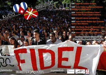 """""""Kuba Eguna 2016"""" 1. edizioa Fidelen omenaldia: 2017an Kubaren aurkako Blokeorik ez!"""