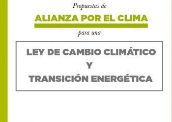 Alianza por el Clima presenta su propuesta de contenidos para una Ley de Cambio Climático y Transición Energética