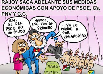 Rajoy saca adelante sus medidas económicas con PSOE y Ciudadanos