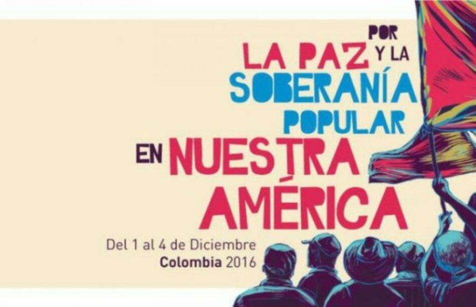 Declaración de la II Asamblea Continental en apoyo a la paz en Colombia