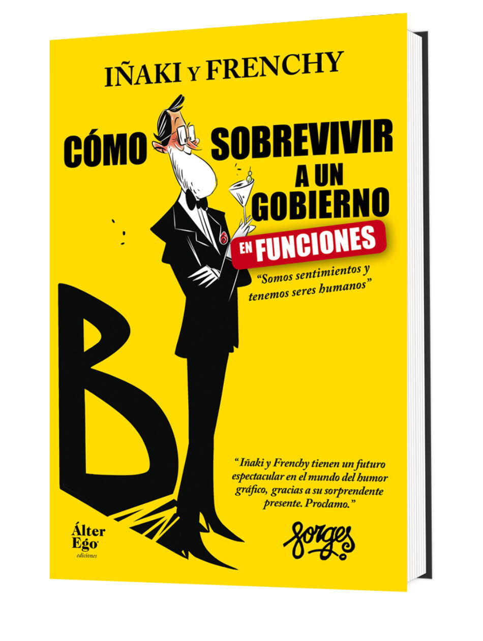 Un año de Gobierno en funciones del Partido Popular en clave de humor de la mano, de los ilustradores manchegos Iñaki y Frenchy.