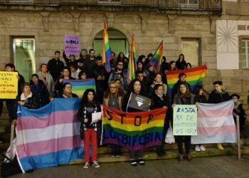 Concentracións na Galiza ante o último caso de agresión a un gai