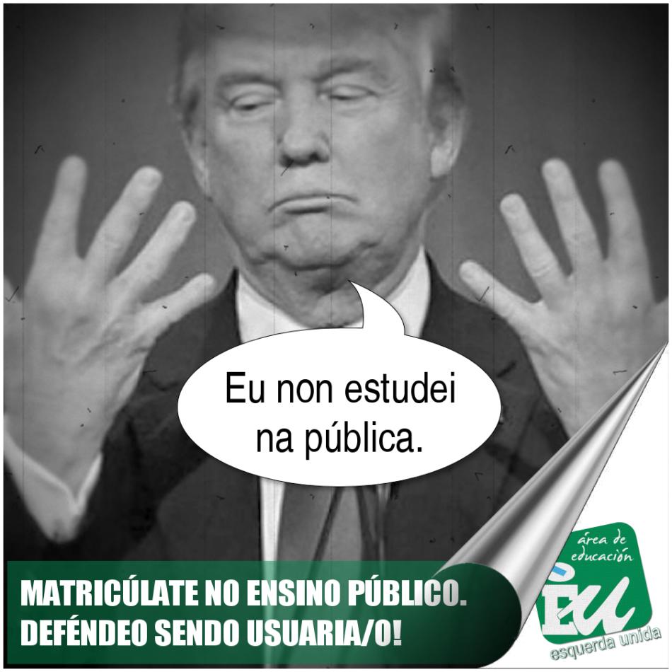 "A área de Educación de Esquerda Unida inicia a campaña «Matricúlate na Pública"""
