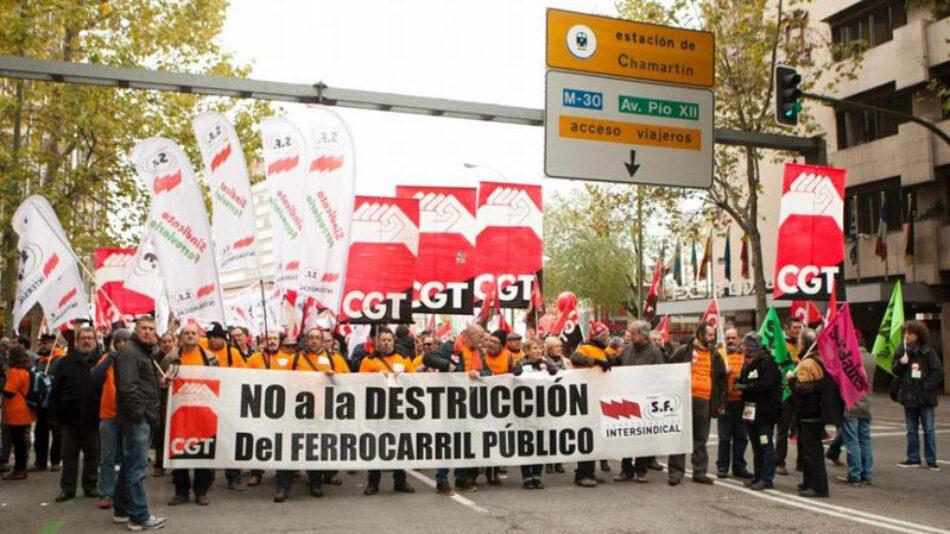 CGT en contra de destinar dinero público a la destrucción de empleo en RENFE
