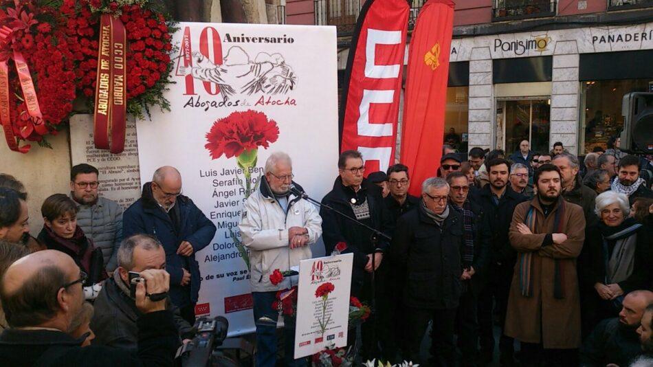 40º aniversario del atentado contra los abogados laboralistas de Atocha