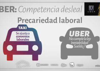 #StopUber, Oscar Guardingo y Rafa Mayoral contra la competencia desleal y la precarización de las condiciones laborales en el sector del taxi