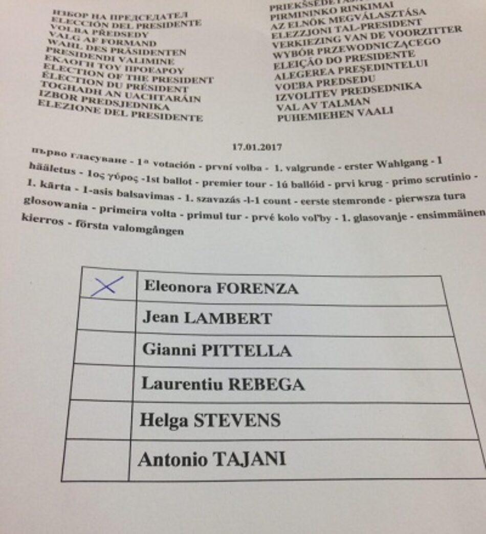 IU se abstuvo en la última votación para la presidencia del Parlamento Europeo ante la «ausencia de compromisos concretos» del grupo Socialdemócrata (S&D)