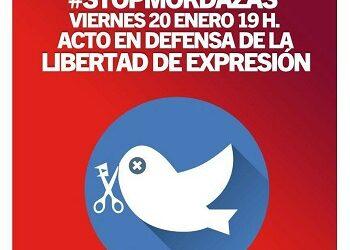 IU y el PCE organizan un acto en defensa de la libertad de expresión
