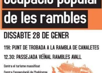CGT de Barcelona juntament amb mig centenar d'organitzacions socials  ocuparan les Rambles el dissabte