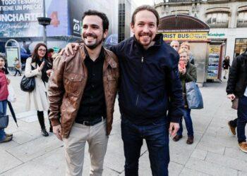 Pablo Iglesias y Alberto Garzón defienden la unidad en la Complutense