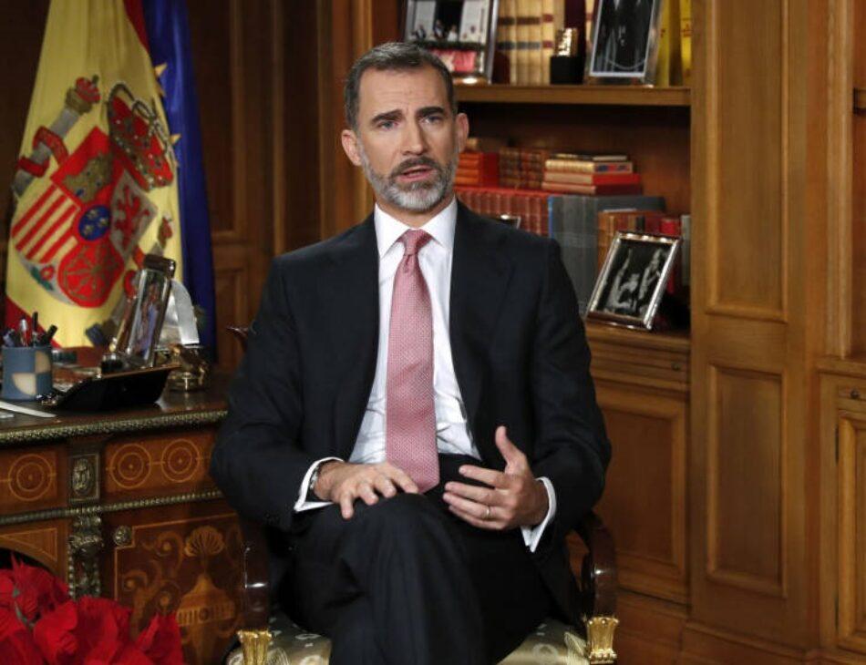 La Defensora del Pueblo no tramitará una queja contra Felipe de Borbón por su discurso de Navidad