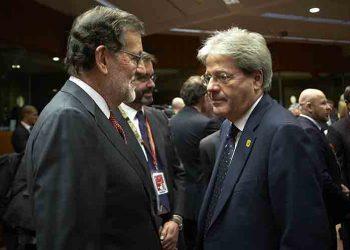 Rajoy y primer ministro italiano examinan relaciones bilaterales