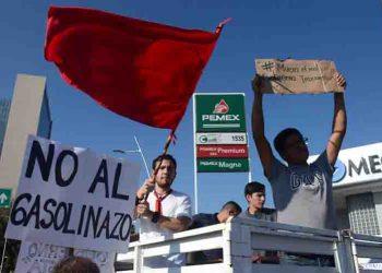 PAN de México protesta contra gasolinazo