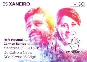 Rafa Mayoral y Carmen Santos presentan en Vigo el proyecto de Podemos Para Todas