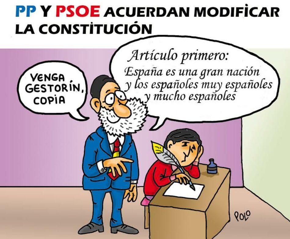 PP y PSOE acuerdan reformar la Constitución