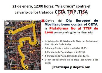 Vía Crucis reivindicativo contra el tratado CETA