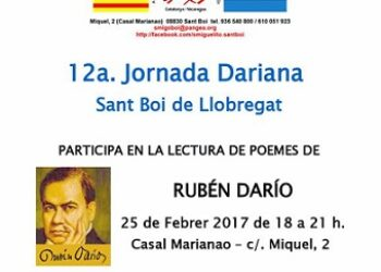 Solidaritat amb Nicaragua: 12a. Jornada Dariana de Sant Boi