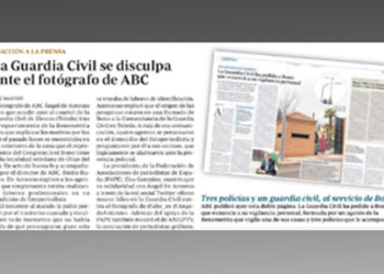La Asociación Nacional de Informadores Gráficos de Prensa y Televisión (ANIGP-TV) denuncia actuación «desproporcionada de la Guardia Civil»