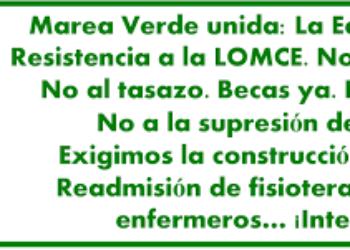 Calendario de acciones de la Marea Verde Madrid para la semana del 23 al 29 de mayo de 2016