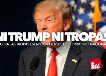 Garzón y Albiol presentan la campaña 'Ni Trump ni tropas' para exigir la marcha de EE.UU de las bases e impedir las torturas y las armas nucleares en suelo español