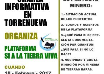 Sí a la Tierra Viva organiza este sábado en Torrenueva una nueva charla informativa sobre los proyectos de minería de tierras raras